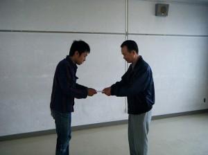 援金を受け取る支援学生